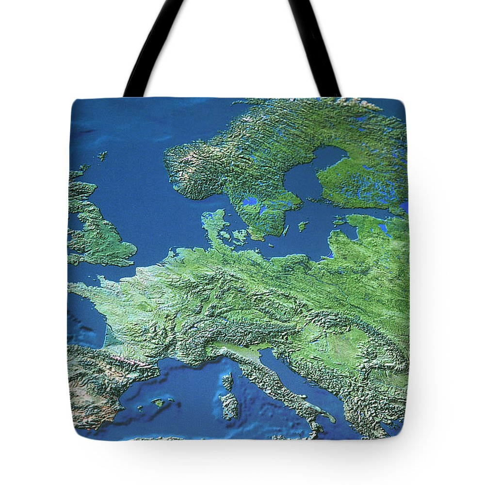 Light Tote Bag featuring the photograph Map Of Europe by Roman Nowina-Konopka