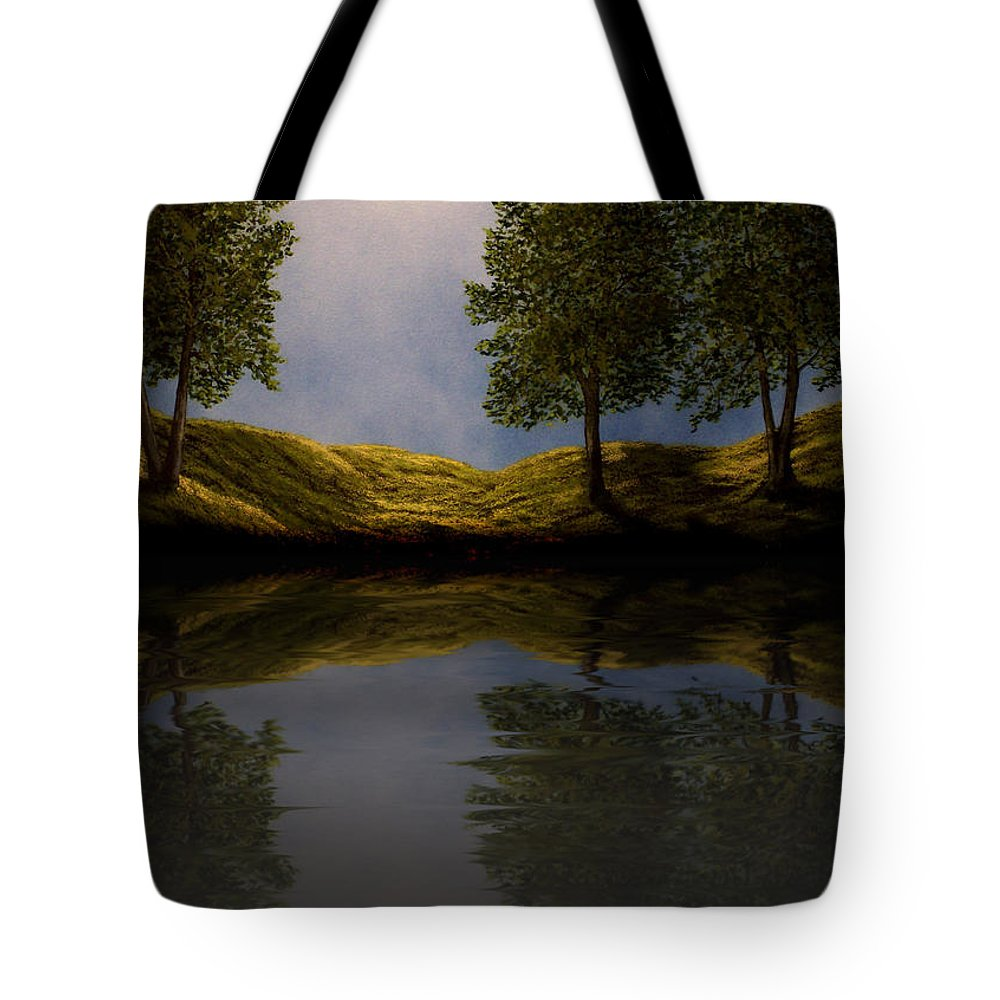 Experimental Art Tote Bag featuring the photograph Maples In Moonlight Reflections by Frank Wilson