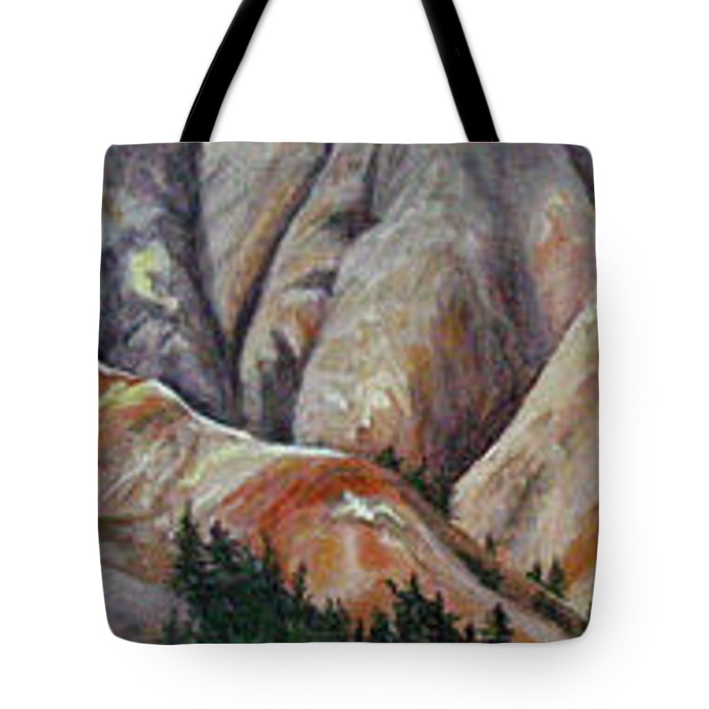 Mountains Tote Bag featuring the painting Marble Ridge by Elaine Booth-Kallweit