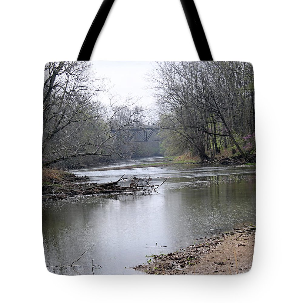March Tote Bag featuring the photograph March River Morning by Harold Hopkins