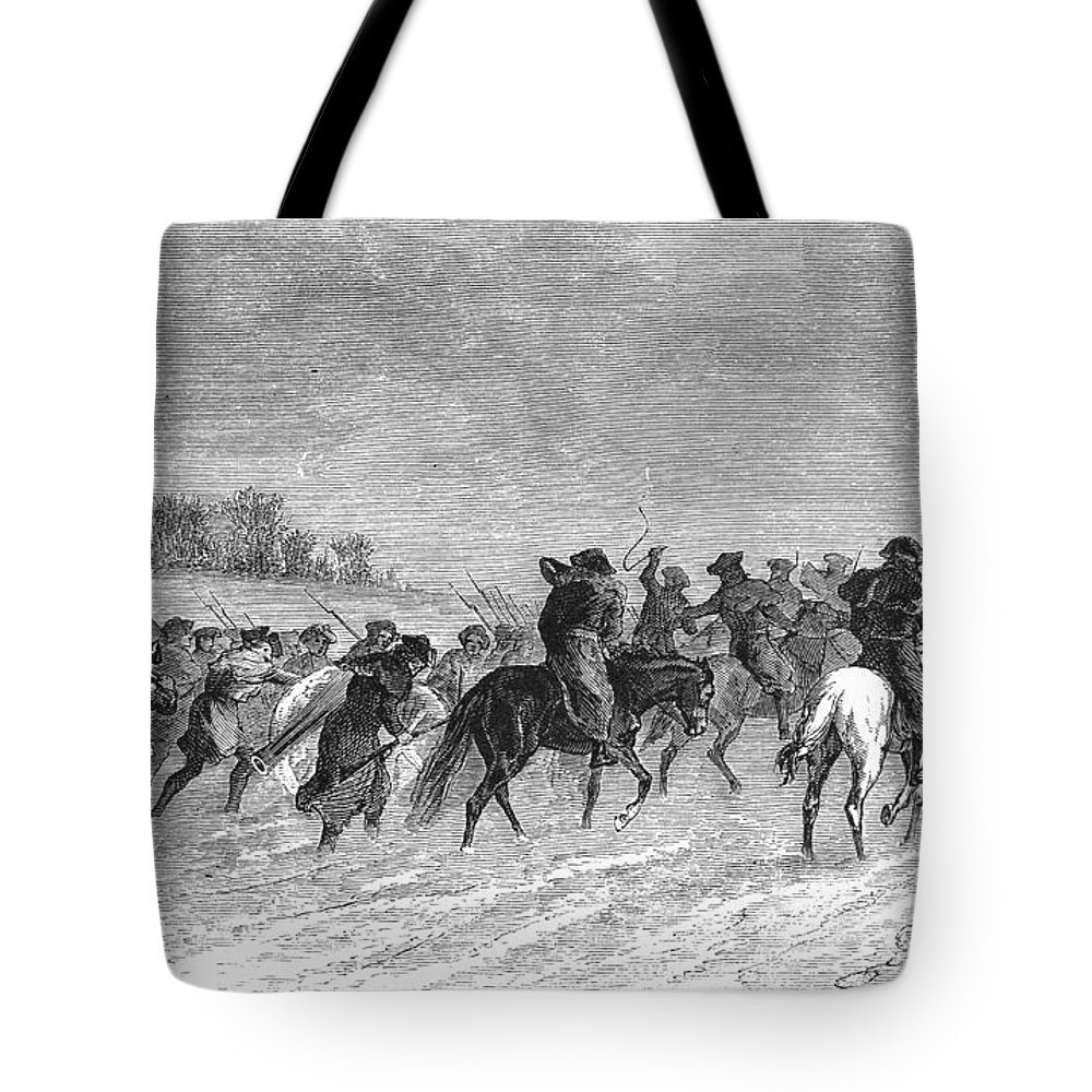 1776 Tote Bag featuring the photograph March To Trenton, 1776 by Granger