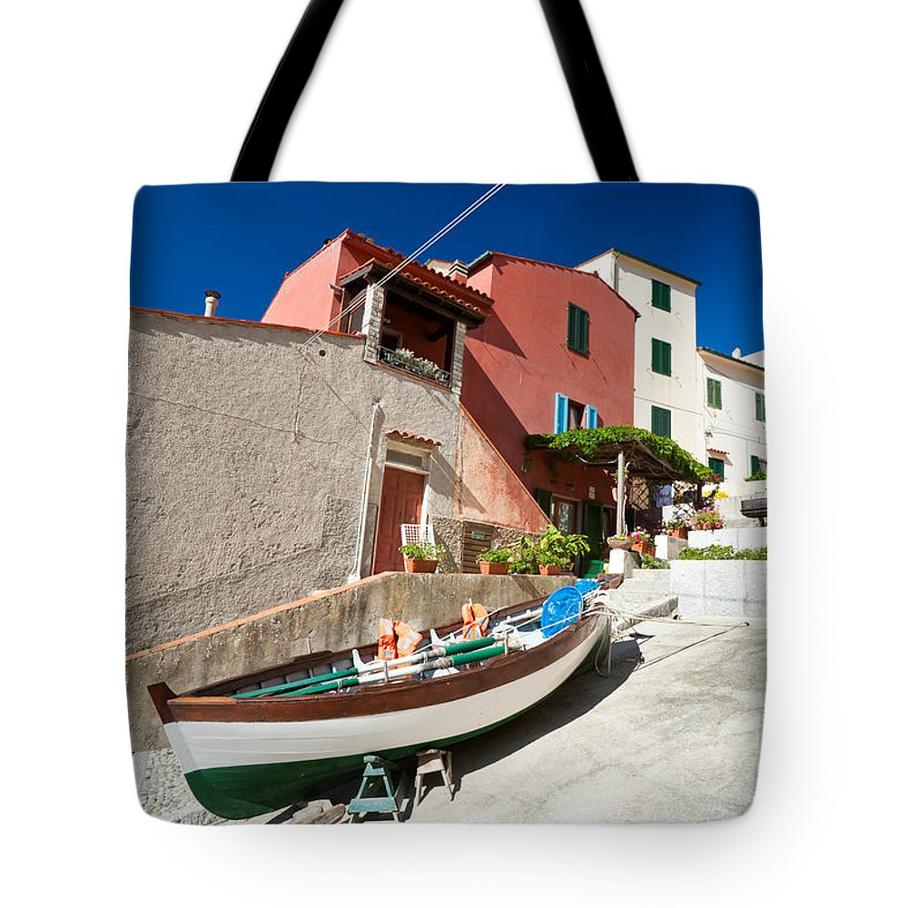 Beach Tote Bag featuring the photograph Marciana Marina - Elba Island by Luciano Mortula