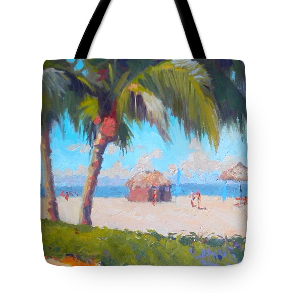 Marco Island Tote Bag featuring the painting Marco Island by Dianne Panarelli Miller