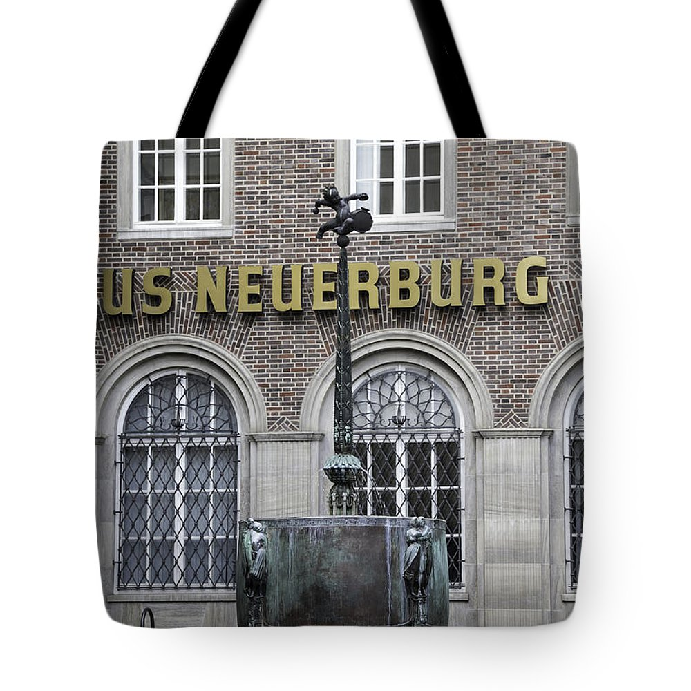 2014 Tote Bag featuring the photograph Mardi Gras Fountain Cologne German by Teresa Mucha
