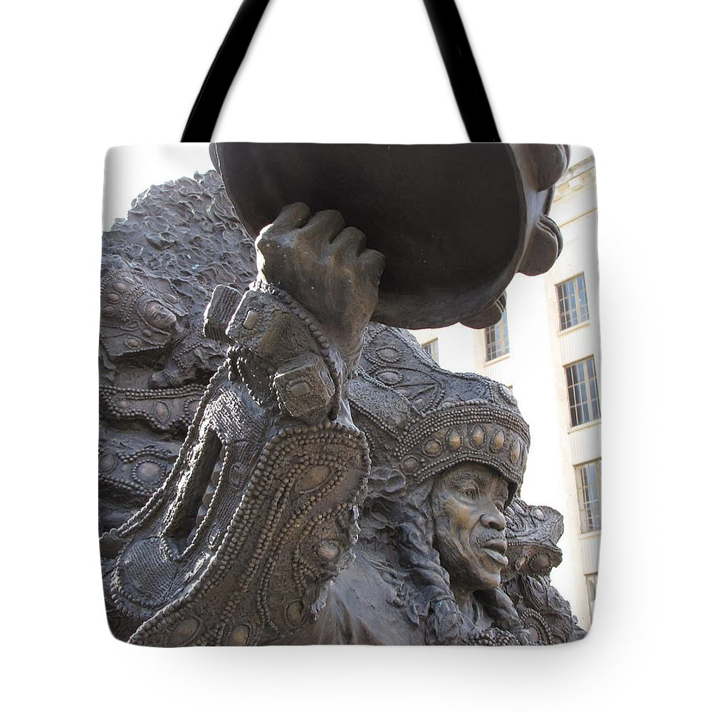 Statue Tote Bag featuring the photograph Mardi Gras Indian by Beth Vincent