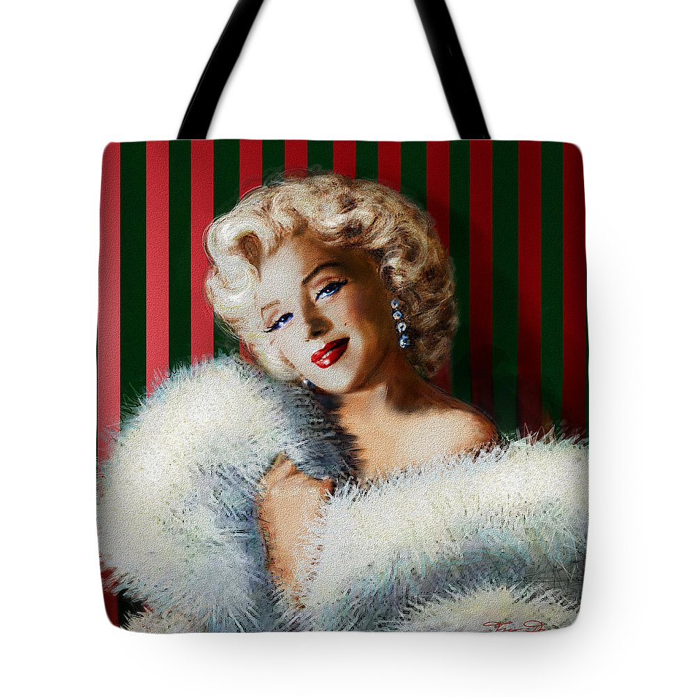 Theo Danella Tote Bag featuring the painting Marilyn 126 D 3 by Theo Danella