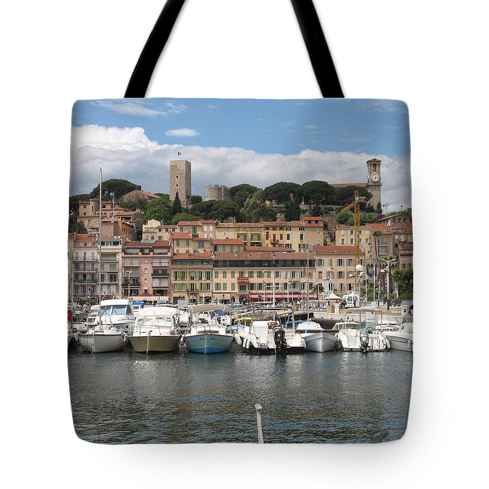 Marina Tote Bag featuring the photograph Marina Cannes by Christiane Schulze Art And Photography