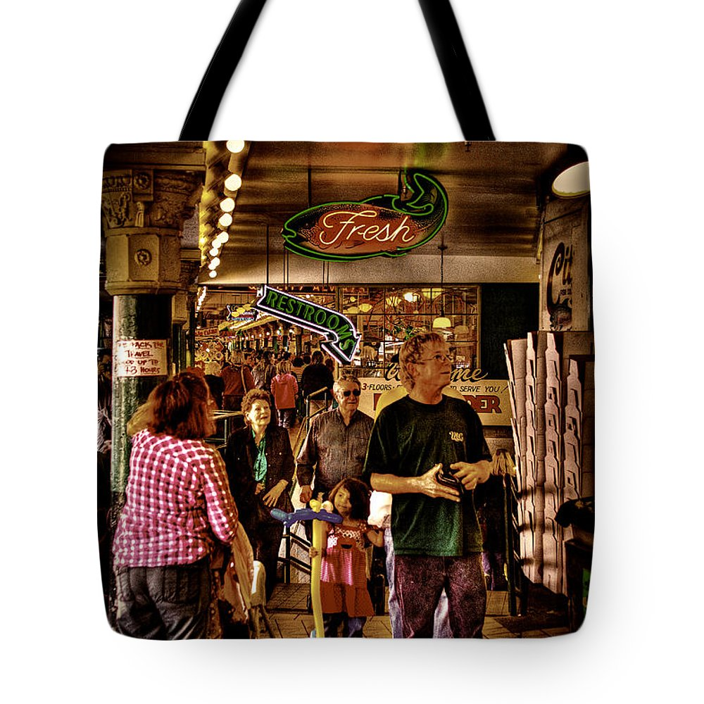 Pike Place Market Tote Bag featuring the photograph Market Fresh At Pike Place Market by David Patterson