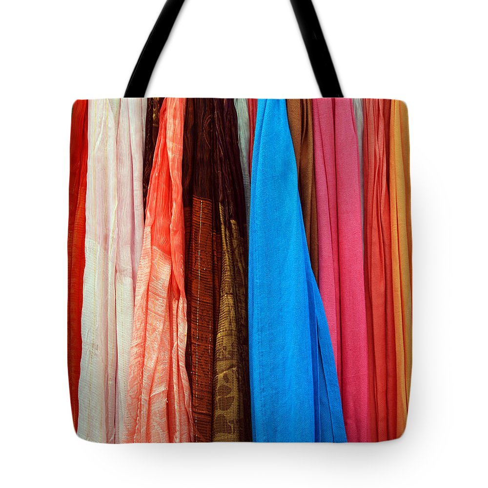 Color Tote Bag featuring the photograph Market Wares - Granada Spain by Rick Locke