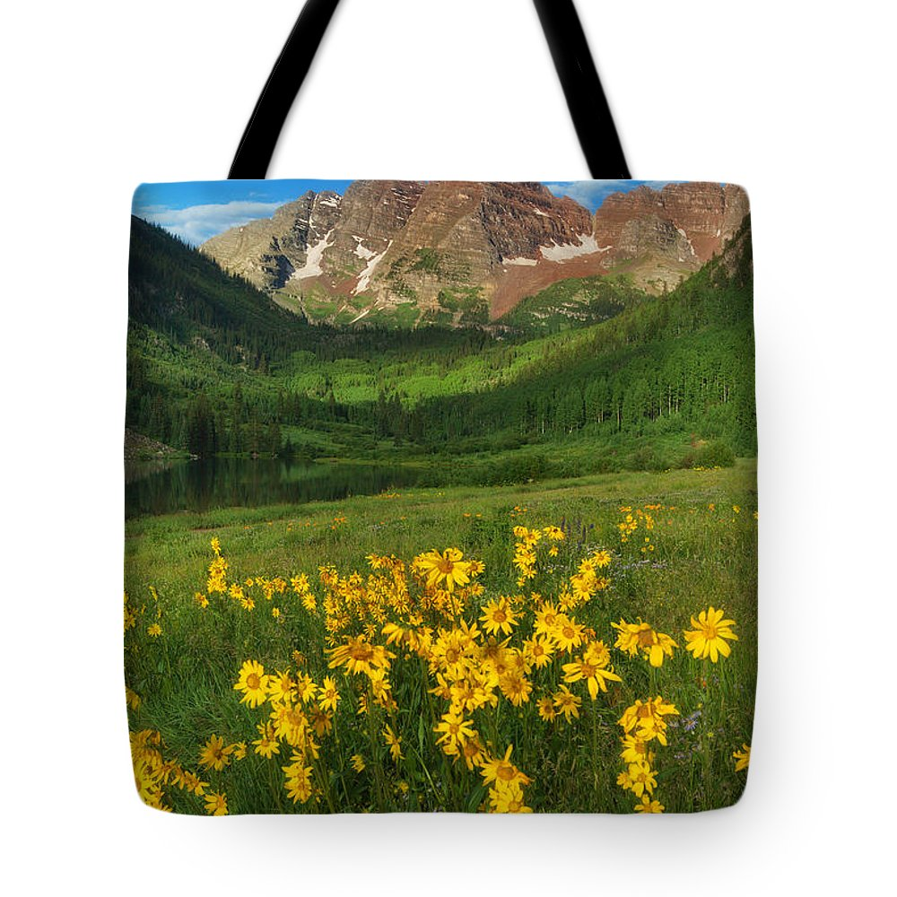 Colorado Landscapes Tote Bag featuring the photograph Maroon Summer by Darren White