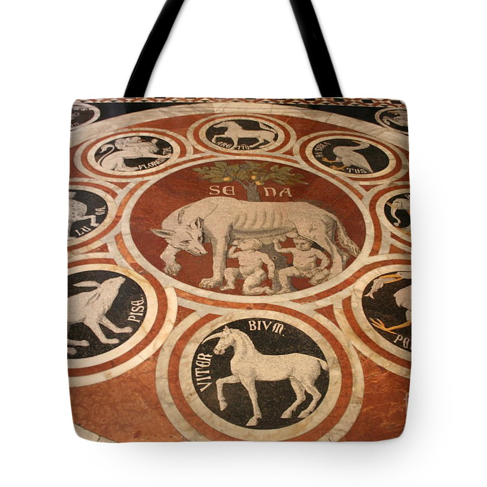 Floor Tote Bag featuring the photograph Marple Floor - Cathedral Siena by Christiane Schulze Art And Photography