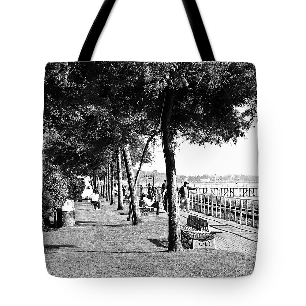 Promenade Tote Bag featuring the photograph Marriment by David Fabian