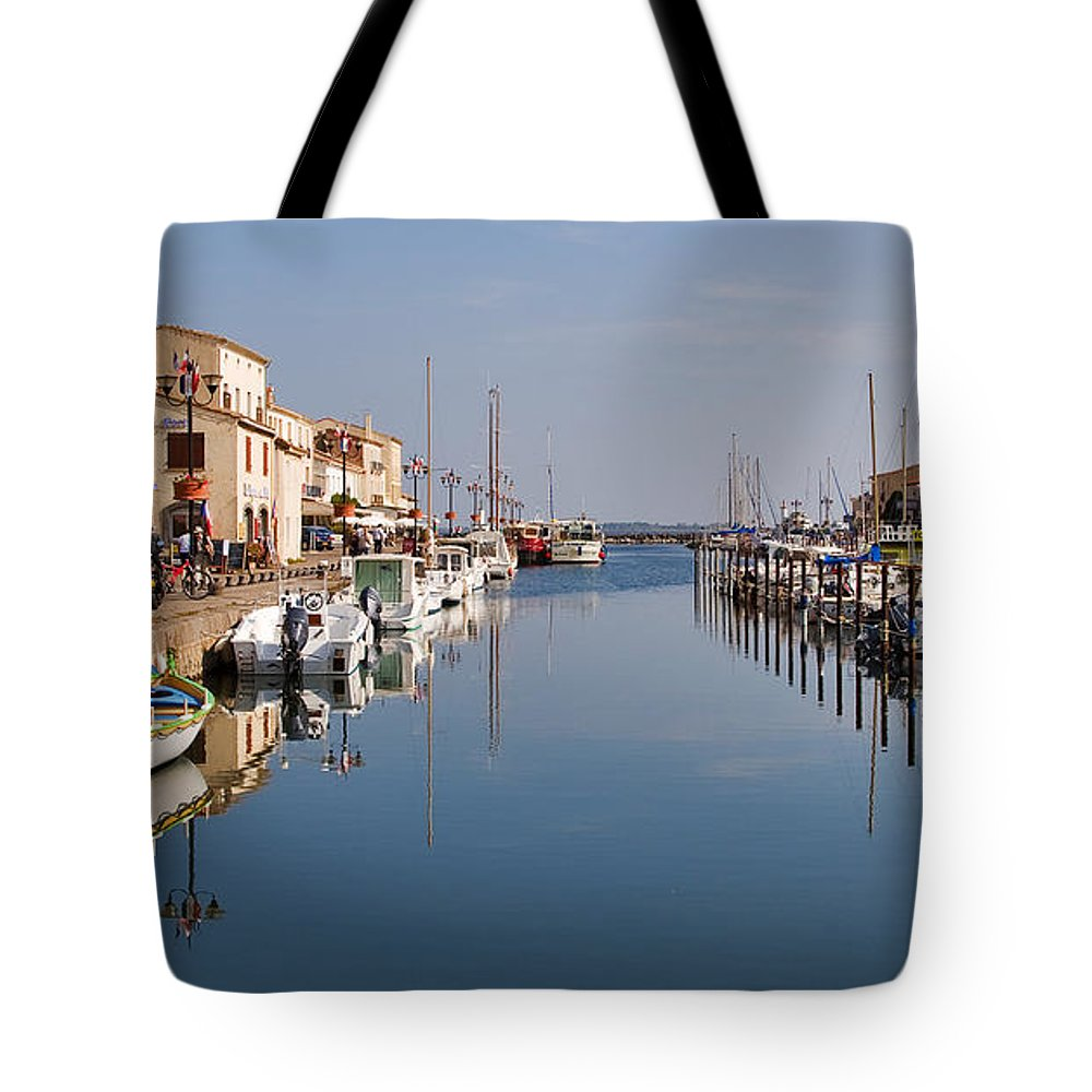 Travel Tote Bag featuring the photograph Marseillan Harbour by Louise Heusinkveld