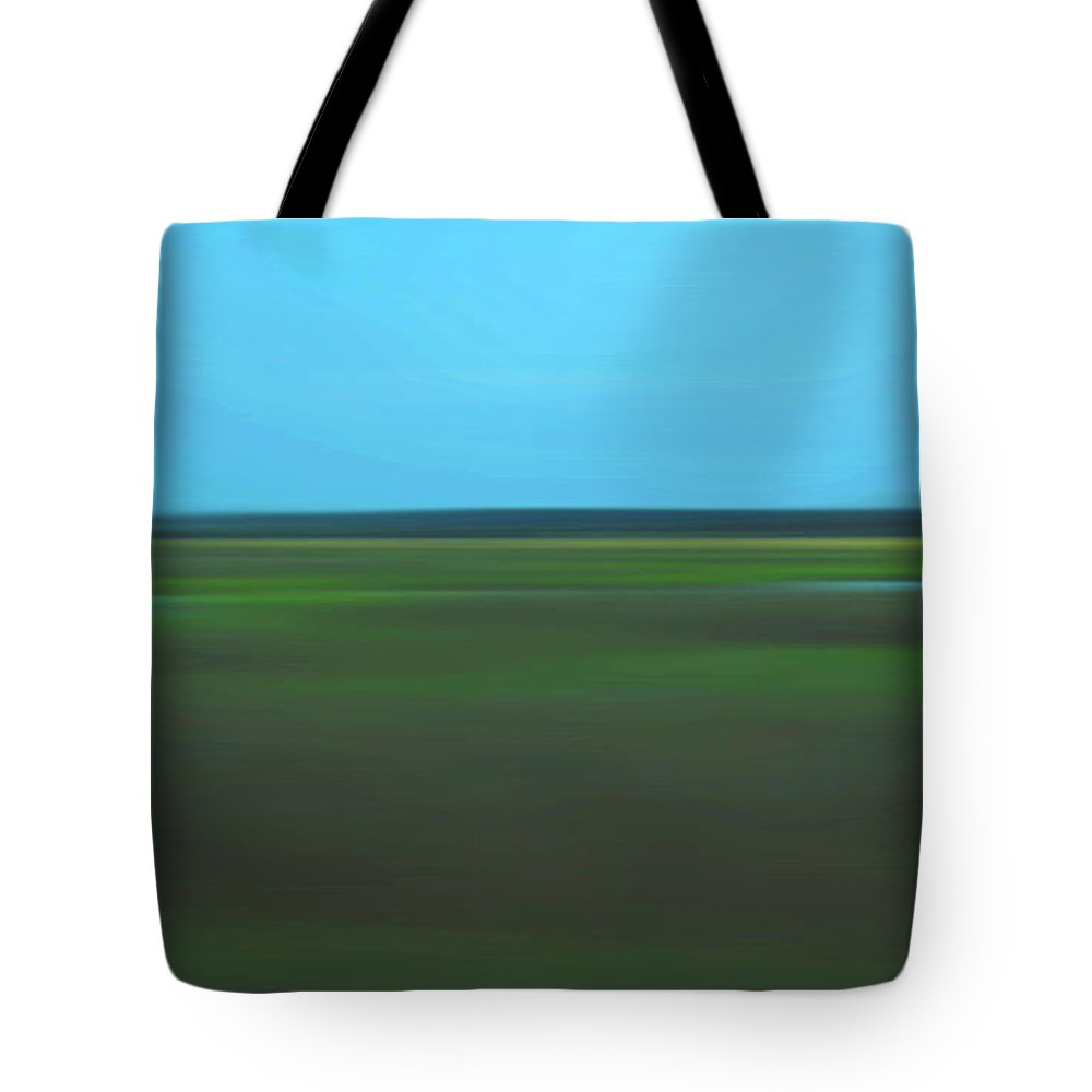 Abstract Tote Bag featuring the photograph Marsh Blur by Suzanne Gaff