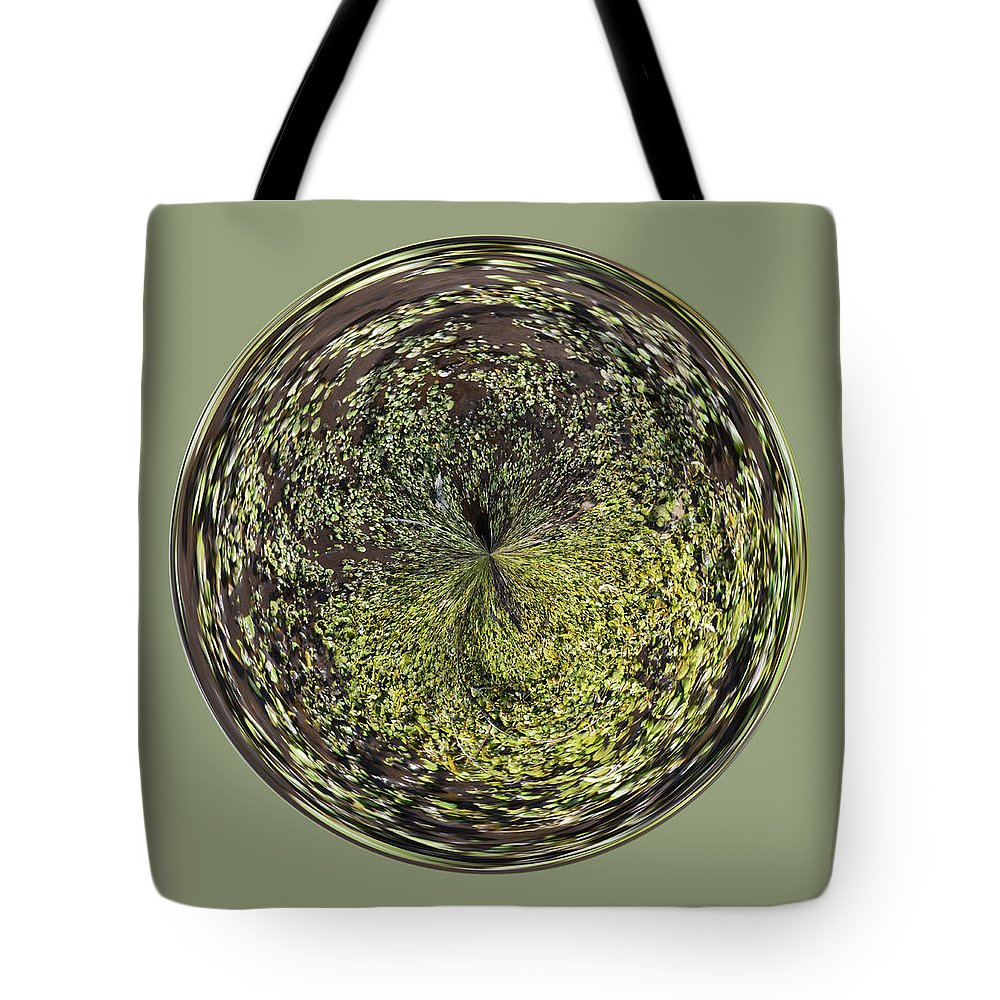 Orb Tote Bag featuring the photograph Marsh Orb by Brent Dolliver