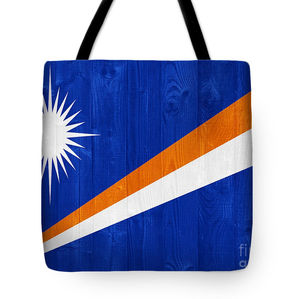 Marshall Tote Bag featuring the photograph Marshall Islands Flag by Luis Alvarenga