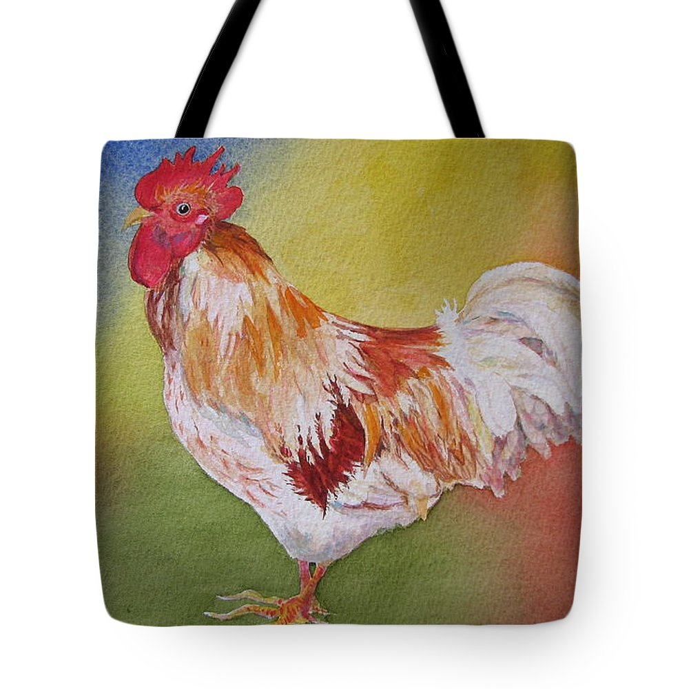 Watercolor Tote Bag featuring the painting Marshmallow by Mary Ellen Mueller Legault