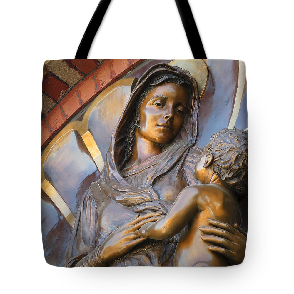 Mary Tote Bag featuring the photograph Mary And Jesus by Daniel Hagerman