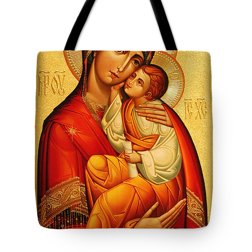 Mary Tote Bag featuring the photograph Mary The God Bearer by Philip Ralley