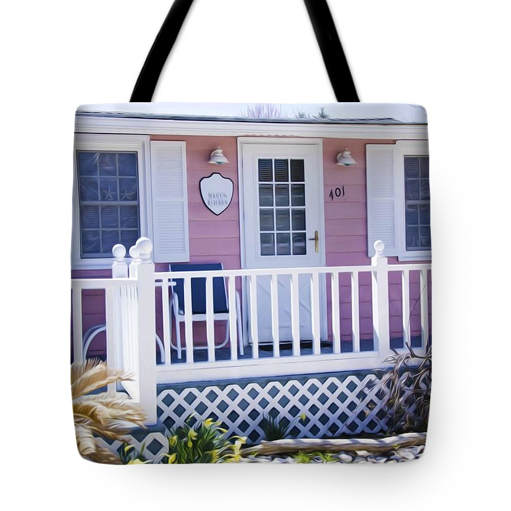 Door Tote Bag featuring the painting Mary's Kitchen House by Jeelan Clark