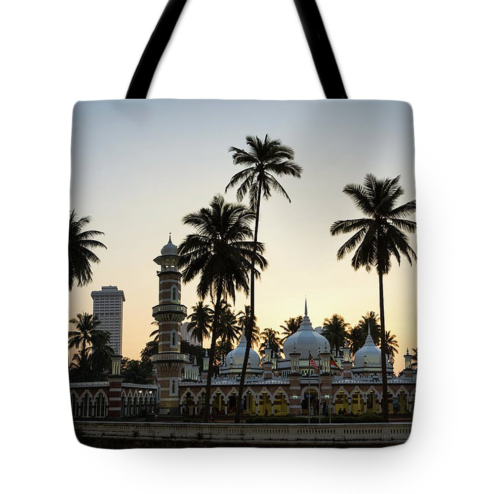 Clear Sky Tote Bag featuring the photograph Masjid Jamek - Kuala Lumpur by @ Didier Marti