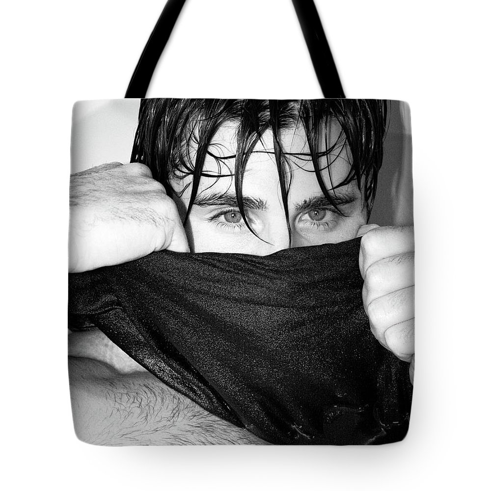 Male Model Tote Bag featuring the photograph Easy On The Eyes Palm Springs by William Dey