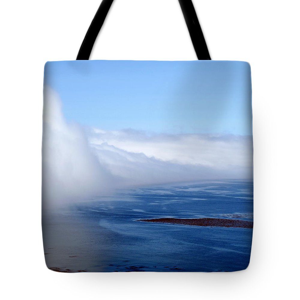 Fog Tote Bag featuring the photograph Massive Fog Bank Over Ocean by Jeff Lowe