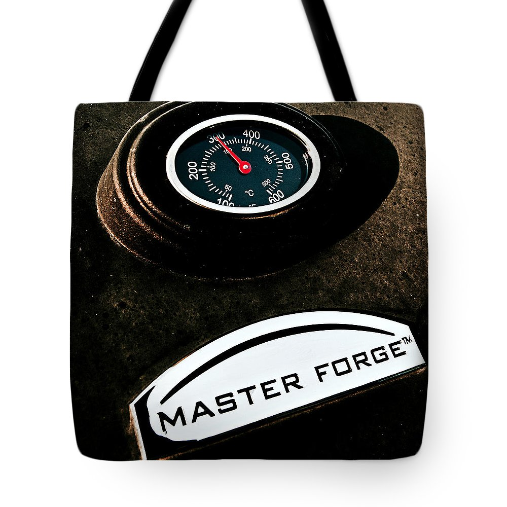 Master Forge Grill Tote Bag featuring the photograph Master Forge by Sennie Pierson