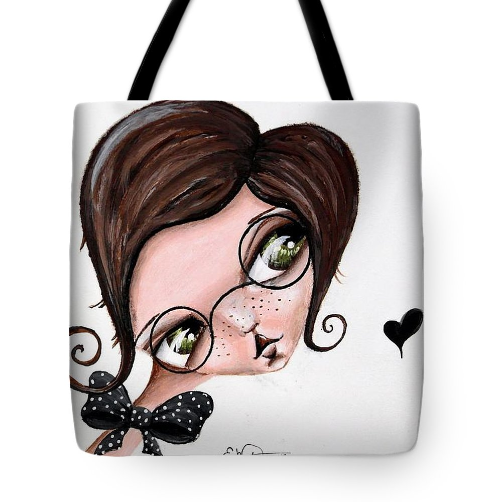 Kawaii Tote Bag featuring the painting Master Of Disguise by Lizzy Love of Oddball Art Co