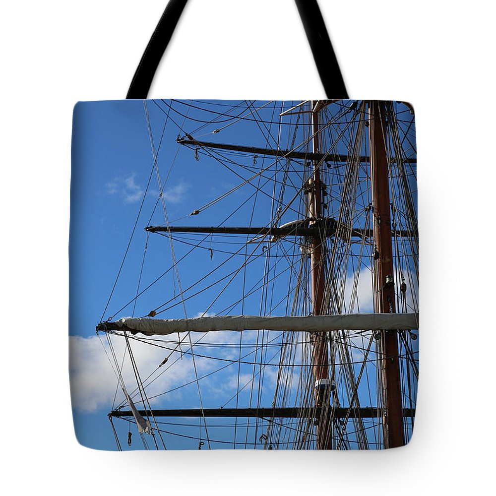 Masts Tote Bag featuring the photograph Masts by Carol Groenen
