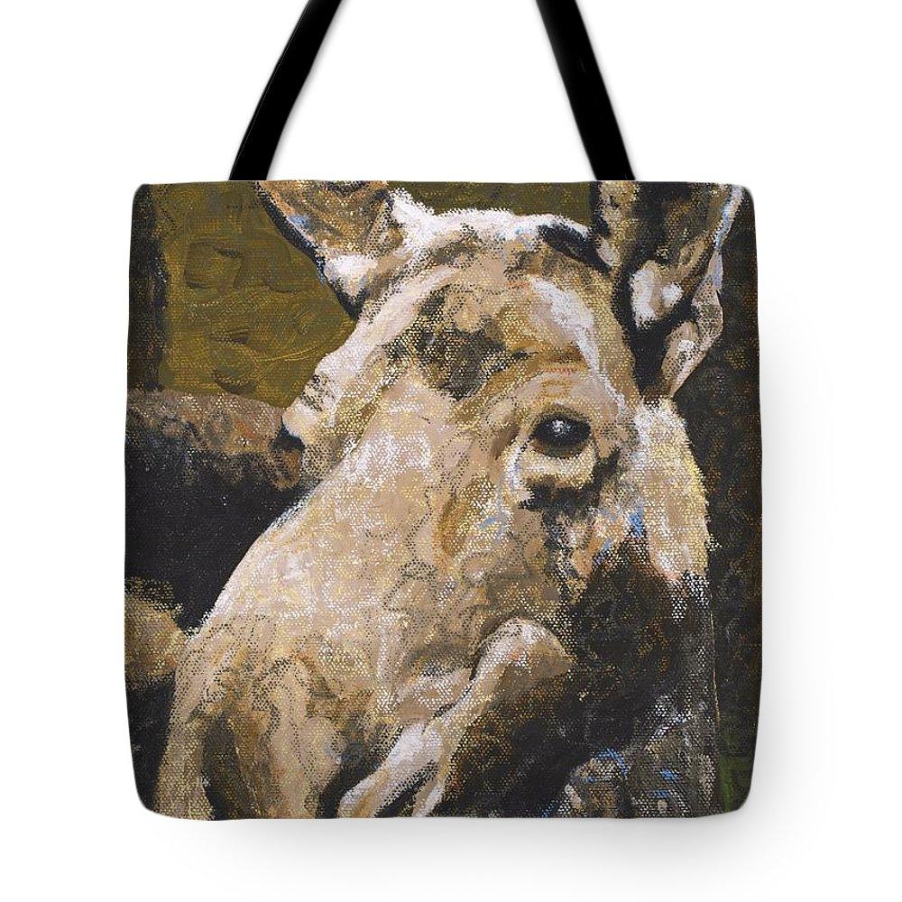 Wildlife Tote Bag featuring the painting Mat-su Moose by C Ryan Pierce