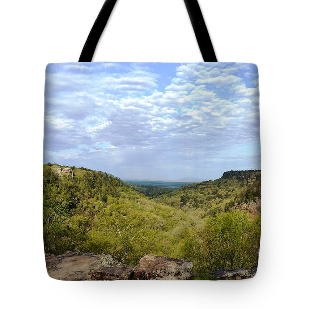 Mather Lodge Tote Bag featuring the photograph Mather Lodge Views by Deanna Cagle