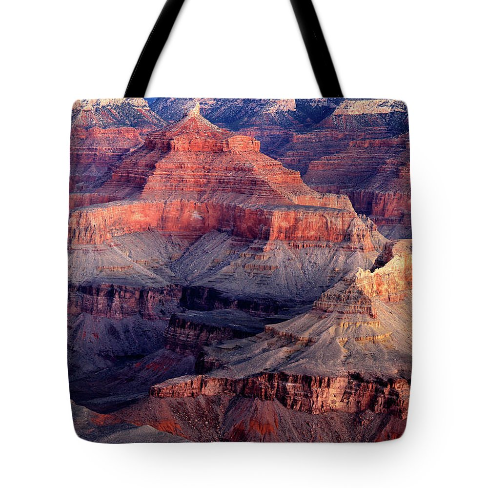Arizona Tote Bag featuring the photograph Mather Point Twilight by Ed Riche
