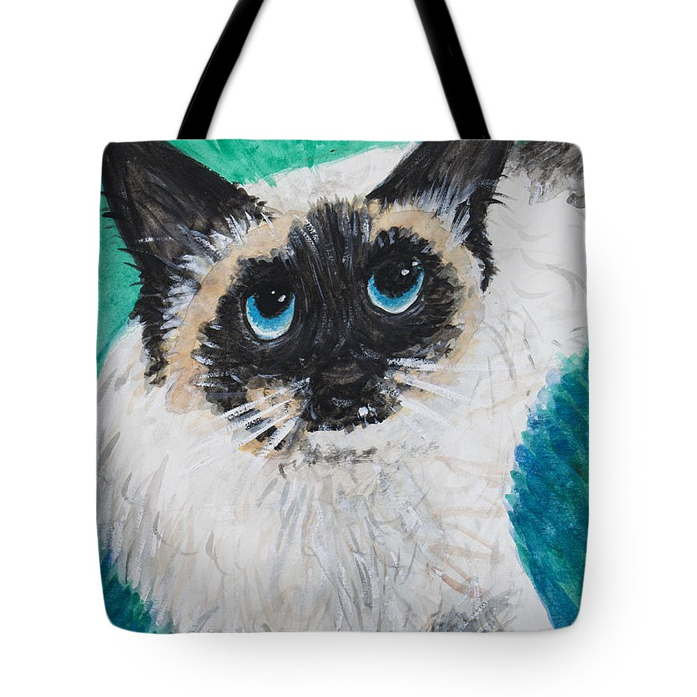 Matilda Tote Bag featuring the painting Matilda by Mike Brennan