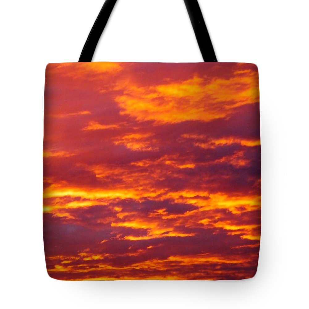 Morning Tote Bag featuring the photograph Matin De Feu by Marc Philippe Joly