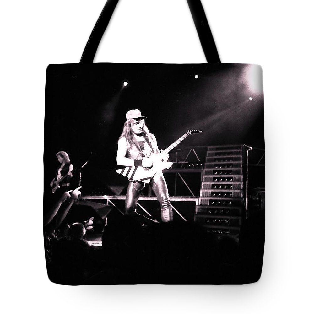 Matthias Jabs Tote Bag featuring the photograph Matthias Jabs Scorpions by Sheryl Chapman Photography