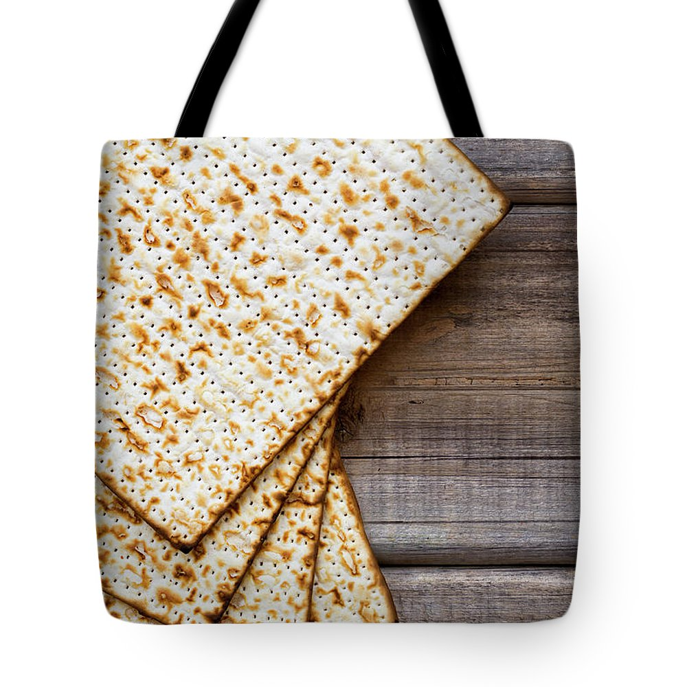 Celebration Tote Bag featuring the photograph Matza Background by Vlad Fishman