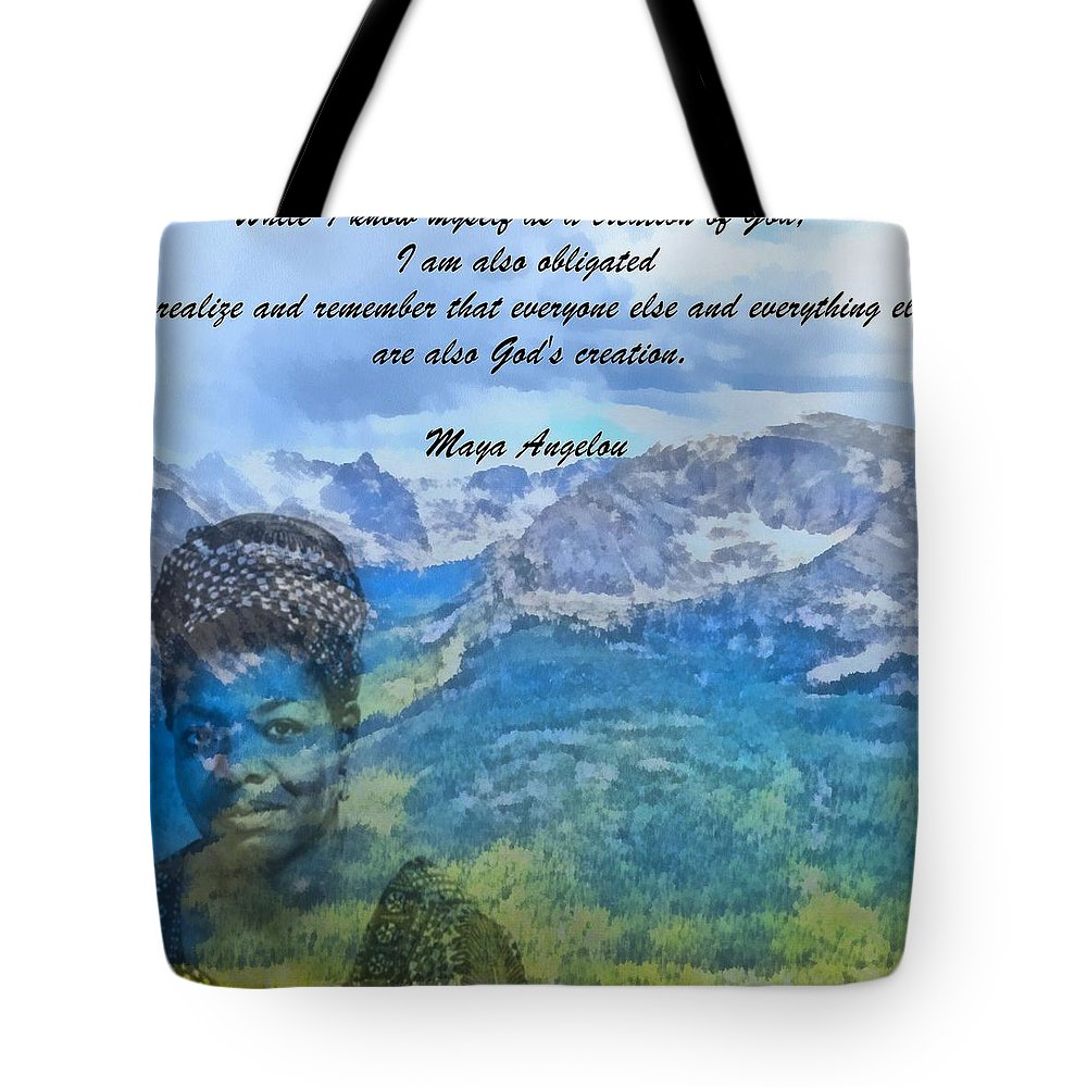 Maya Angelou Tote Bag featuring the painting Maya Angelou Tribute by Dan Sproul