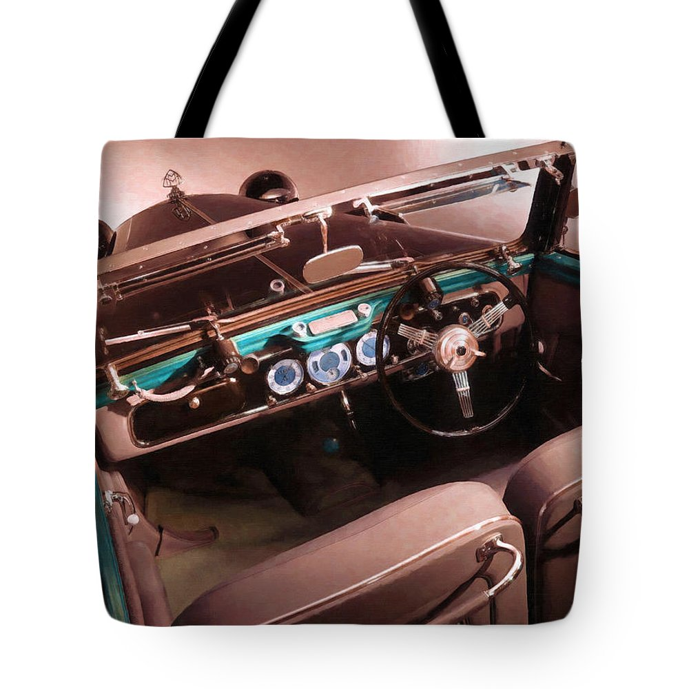 Maybach Tote Bag featuring the painting Maybach Car 4 by Jeelan Clark