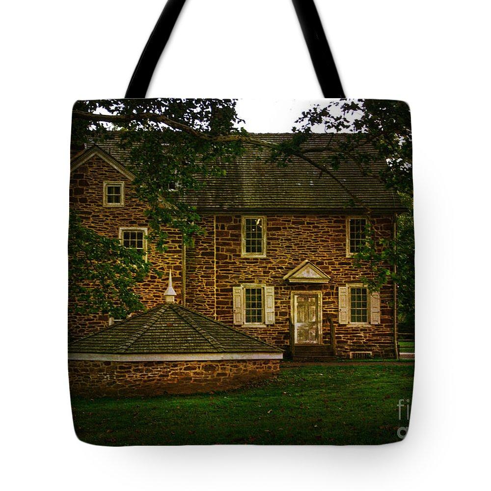 Washington Crossing State Park Tote Bag featuring the photograph Mcconkey's Ferry Inn by Debra Fedchin