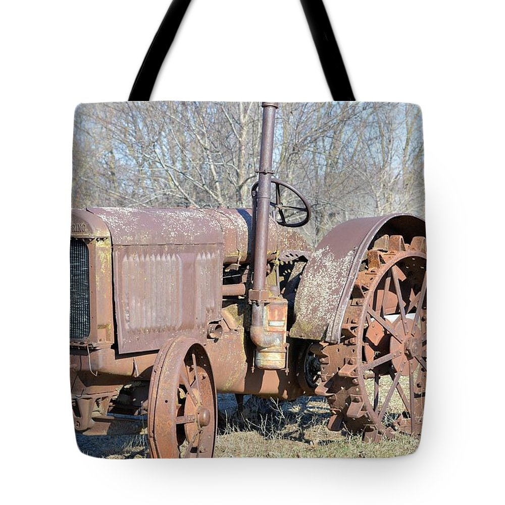 Tractor Tote Bag featuring the photograph Mccormick Deering by Bonfire Photography