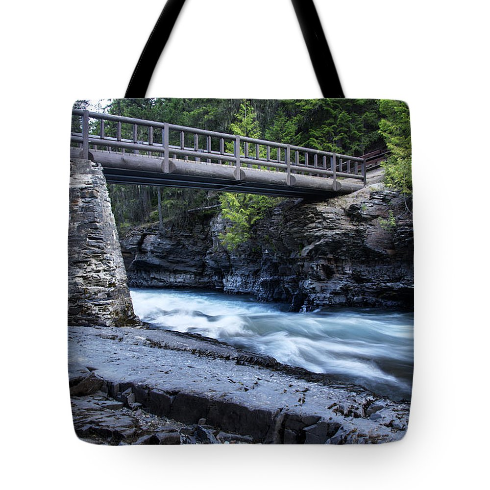 Mcdonald River Tote Bag featuring the photograph Mcdonald River Glacier National Park -1 by Paul Cannon