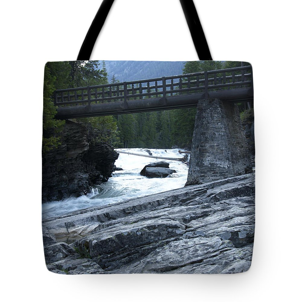 Mcdonald River Tote Bag featuring the photograph Mcdonald River Glacier National Park - 2 by Paul Cannon
