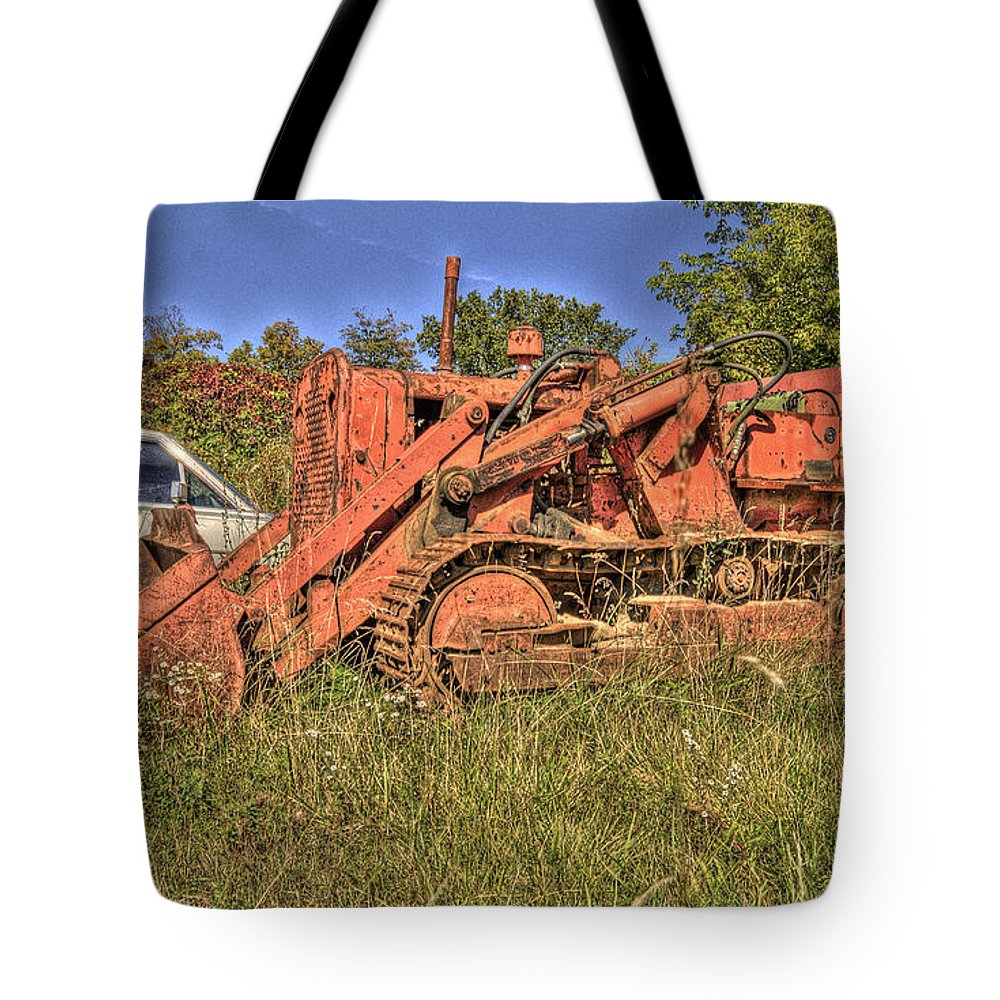 Mclean Auto Wrecker Tote Bag featuring the photograph Mcleans Auto Wrecker - 17 by Paul Cannon