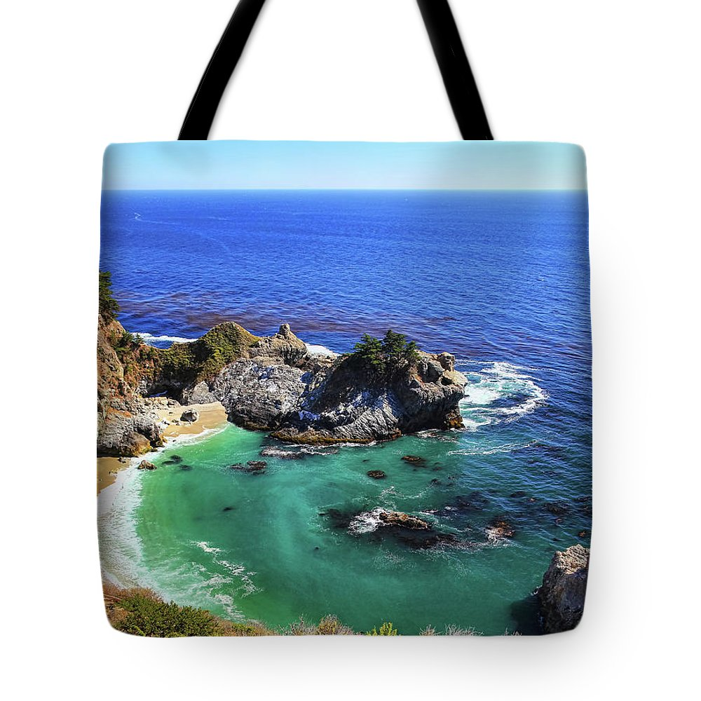 Scenics Tote Bag featuring the photograph Mcway Falls by David Toussaint