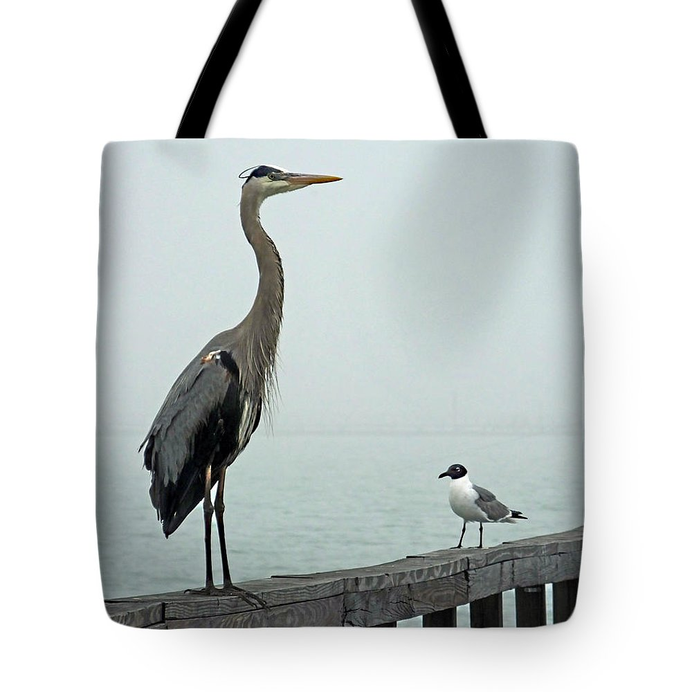 Blue Heron Tote Bag featuring the photograph Youve Got A Friend by Lizi Beard-Ward