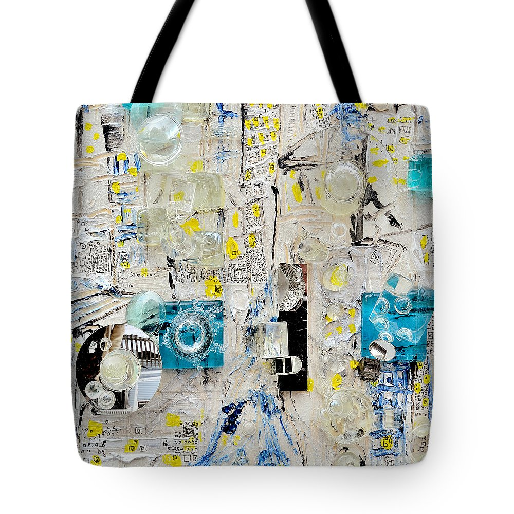 Lens Tote Bag featuring the painting Me And You Us And Them by Regina Valluzzi