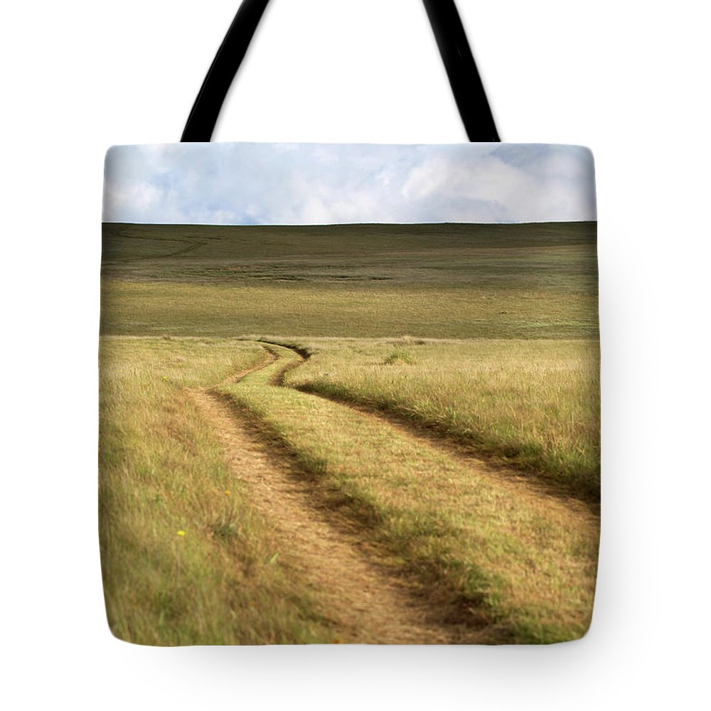Scenics Tote Bag featuring the photograph Meandering Path Through The Hills Of by Morgan Trimble