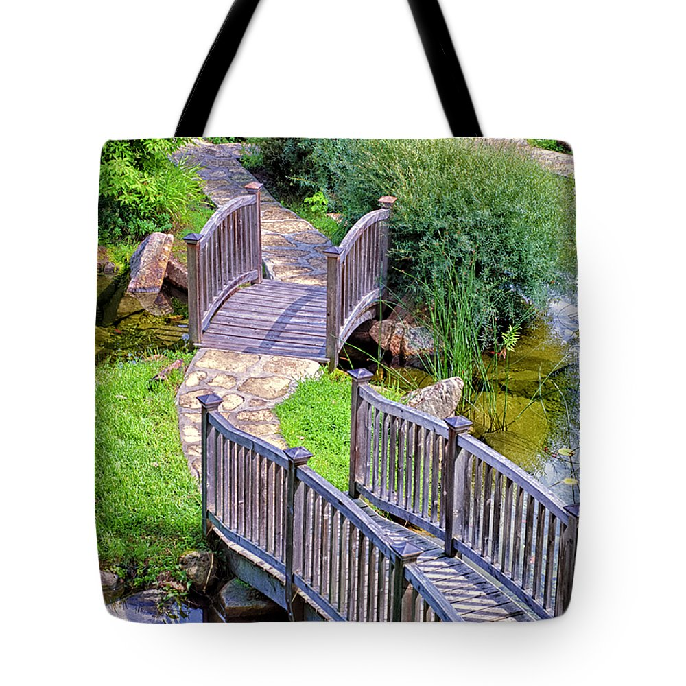 Meandering Pathway Tote Bag featuring the photograph Meandering Pathway by Christi Kraft