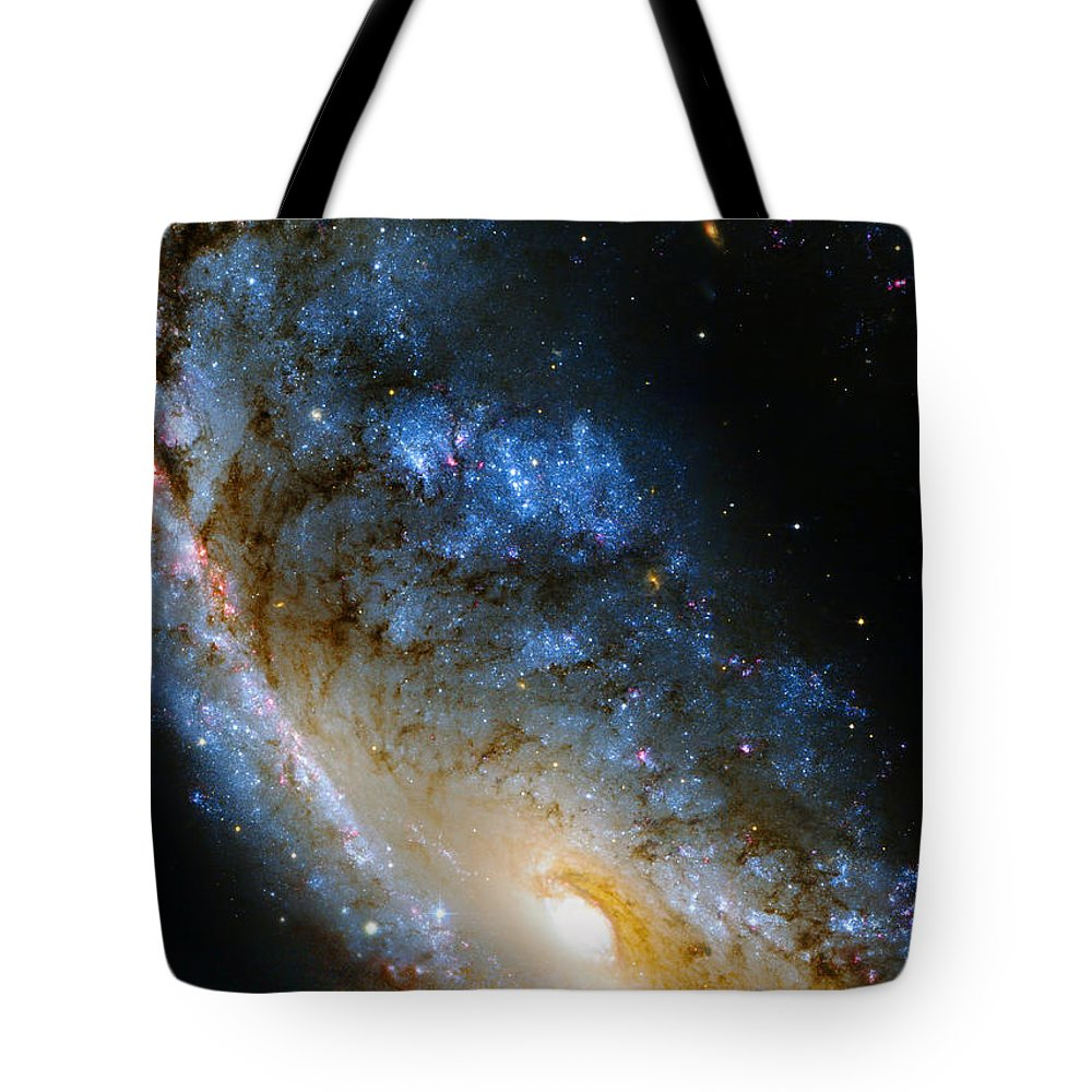 Ngc Tote Bag featuring the photograph Meathook Galaxy by Ricky Barnard